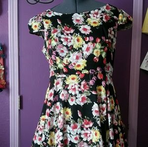 Hearts and Roses Floral Dress